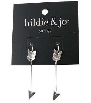 hildie & jo Arrow Silver Dangle Earrings