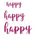 Stamping Bella 3 pk Cut it Out Sentiment Dies-Happy