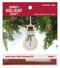 Wood Cross Stitch Ornament Kit-Snowman