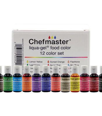 Chefmatser Liqua-Gel Color Kit 12/Pkg .7oz