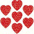 Carson Dellosa Dazzle Stickers Hearts Red 12 Packs