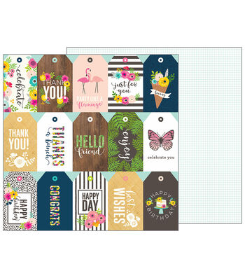 Pebbles Jen Hadfield Patio Party Double-Sided Cardstock-Just for You