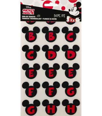 Wrights Disney Mickey Mouse 54 pk Alphabet Iron-On Transfers