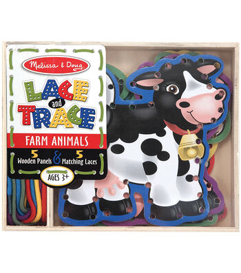 Melissa & Doug Farm Animals Lace and Trace Panels