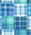 Snuggle Flannel Fabric -Boy Madras Plaid