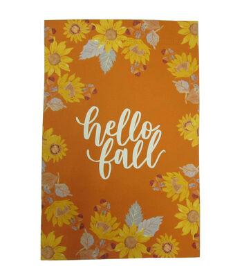 Simply Autumn 12''x18'' Flag-Hello Fall & Sunflower