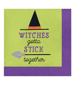 Maker's Halloween 20 pk Lunch Napkins-Witches Gotta Stick Together