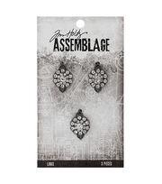 Tim Holtz Assemblage Pack of 3 Gemstone Flowers Links, , hi-res
