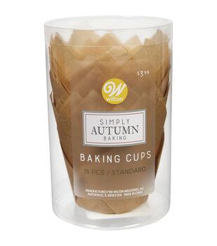 Wilton Simply Autumn Baking Cups-Kraft