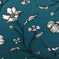 Knit Prints Rayon Spandex Fabric-Blue Sketched Floral