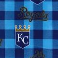 Kansas City Royals Fleece Fabric-Buffalo Plaid