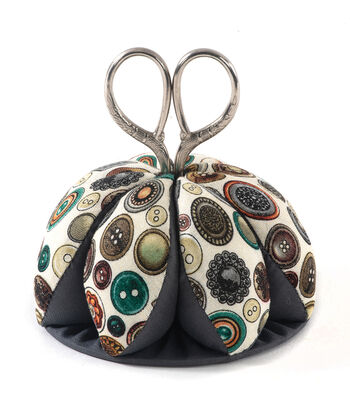 Pin Cushion-Dome with Scissors