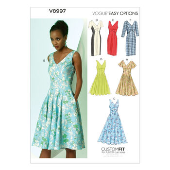Vogue Patterns Misses Dress-V8997