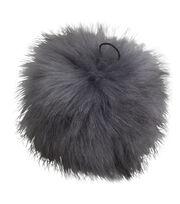 Buttercream 5'' Faux Fur Pom Pom-Gray, , hi-res