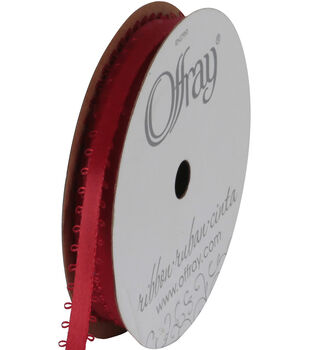 Offray Feather Edge Ribbon 3/16''-18 Ft