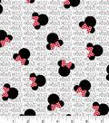 Disney Minnie Mouse Cotton Fabric 43\u0027\u0027-Minnie Heads with Bows