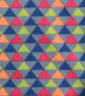 Blizzard Fleece Fabric 59\u0022-Broken Chevron Triangles