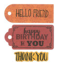 Sizzix Framelits Dies with Stamps-Tag Sentiments #2