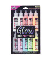 Tulip Glow in the Dark Dimensional Fabric Paint Party Pack, , hi-res