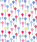 Tutti Fruitti Kite Flight Embellished Fabric -Multi Kites
