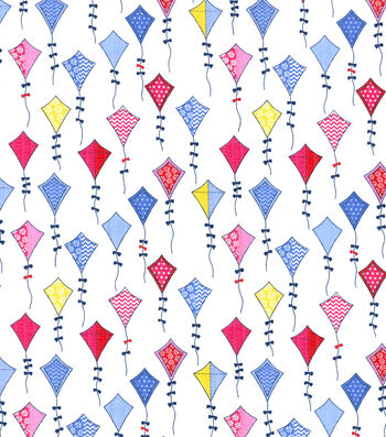 Tutti Fruitti Kite Flight Embellished Fabric -Multi Kites
