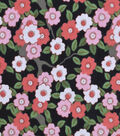 Snuggle Flannel Fabric -Sunset Ditsy Floral