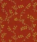 Waverly Sheer Fabric-Indochine Emb/Henna