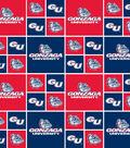 Gonzaga University Bulldogs Cotton Fabric -Logo Block