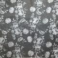 Sportswear Denim Stretch Fabric-White & Gray Floral