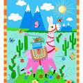 1 Yard Fabric Panel-Llama