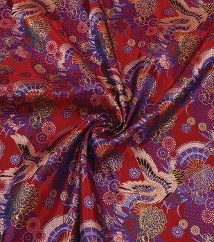 Yaya Han Cosplay Brocade Fabric 58''-Kyoto Garden on Red