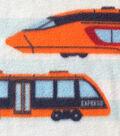 Anti-Pill Fleece Fabric -Subways & Trains