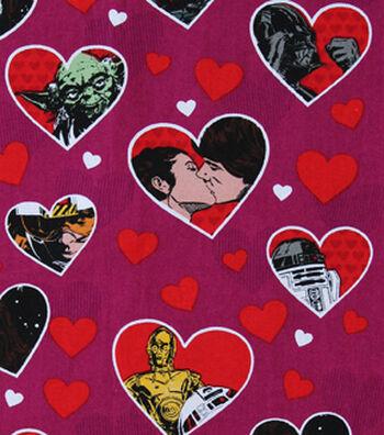 """Star Wars™ Cotton Fabric 43""""-Valentine Hearts"""