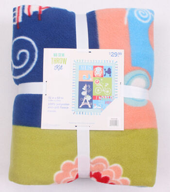 """No-Sew Throw Fleece Fabric 72""""-J'Adore Paris"""