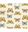 Anti-Pill Fleece Fabric 58\u0022-Butterflies On Cream