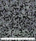 Keepsake Calico Cotton Fabric-Metallic Black Vines