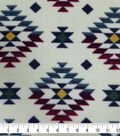 Specialty Luxe Fleece Fabric 59\u0027\u0027-Bison Cream Aztec