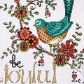 Heartfelt Be Joyful Counted Cross Stitch Kit 14 Count