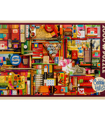 "Jigsaw Puzzle 2000 Pieces 40""X27""-Vintage Art Supplies"
