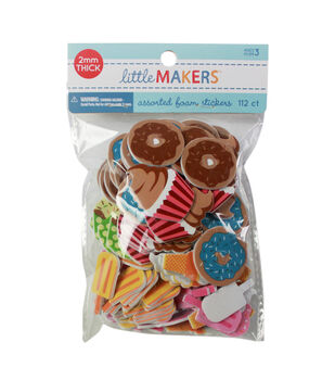 Little Makers Adhesive Foam Stickers-Sweets