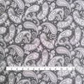 Stretch Crepe Knit Fabric-Black Tonal Paisley