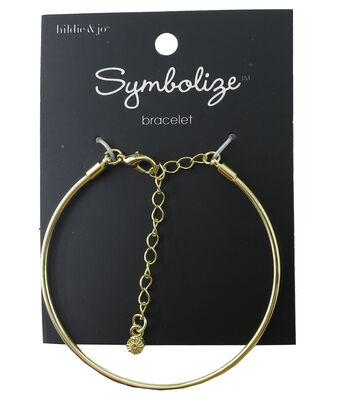 hildie & jo Symbolize 7'' Gold Bangle Bracelet