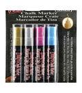 Marvy Uchida Bistro 4 pk Fine Point Chalk Markers-Metallic