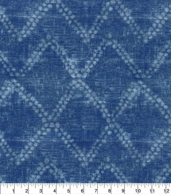 Ellen DeGeneres Upholstery Fabric 54''-Indigo Shibori Diamond