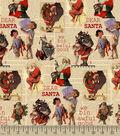Saturday Evening Post Dear Santa \u0022We Bin Awful Good\u0022 Print Fabric