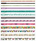 Park Lane Washi Tape Tube 13/Pkg-Butterfly