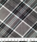 Anti-Pill Plush Fabric 58\u0022-Sean Gray & Teal Plaid
