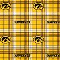 University of Iowa Hawkeyes Fleece Fabric -Plaid