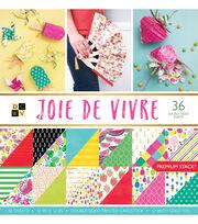 DCWV Pack of 36 12''x12'' Premium Printed Cardstock Stack-Joie De Vivre, , hi-res