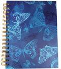 Park Lane 7.5\u0027\u0027x9.5\u0027\u0027 Spiral Notebook-Butterfly Print